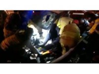 D-100 Karayolu'nda sıkışmalı kaza: 1 yaralı