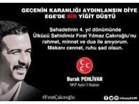 Aydın MHP, Fırat Çakıroğlu'nu unutmadı