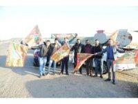 Serik'te saldırıya uğrayan Cizrespor'a görkemli karşılama