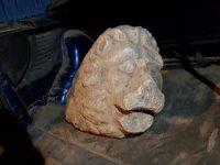 Jandarma Roma dönemine ait aslan heykeli ele geçirdi