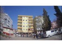 """Edirne'de """"drone"""" ile trafik uygulaması"""
