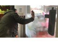 Kars buz kesti: Termometreler eksi 20'yi gösterdi