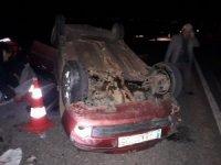 Traktör otomobille çarpıştı: 1 ölü