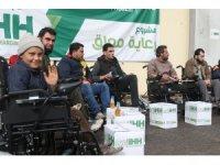 Suriye'deki engellilere 20 tekerlekli sandalye