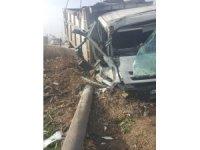 Bandırma'da kamyon kazası : 1 Yaralı