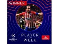 Şampiyonlar Ligi'nde haftanın futbolcusu Diego Godin