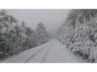 Taraklı'da kar kalınlığı 15 santimetreye kadar ulaştı