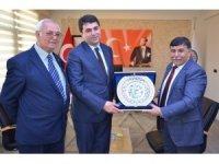 DP Genel Başkanı Gültekin Uysal'dan Başkan Mustafa Koca'ya destek ziyareti