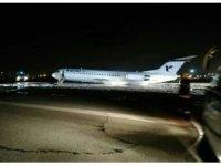 İran'da yolcu uçağı alev aldı