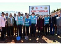 """Tunceli'de """"Adalet Ormanı"""" oluşturuldu"""