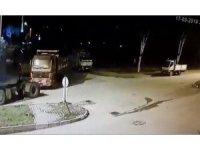 Başkent'te TIR'a bağladıkları kamyonu böyle çaldılar