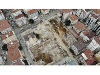 Kartal'da 21 kişinin hayatını kaybettiği Yeşilyurt Apartmanı'nın bulunduğu alanda son durum havadan görüntülendi