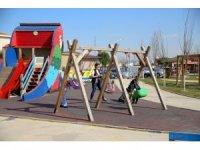 Nilüfer'in parklarında çocuklar güvende