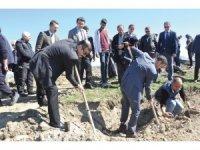 Sungurlu'da 750 fidanı toprakla buluştu