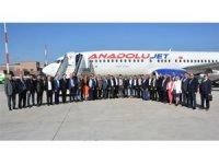 Erbil'e ilk uçuş gerçekleşti