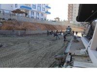 Siirt'te kadın yaşam merkezinde çevre düzenlemesi çalışmaları başladı
