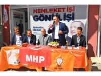 Aksoy, Akseki'de Türel ve Özkan için destek istedi