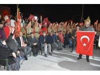 Emirdağ'da binlerce kişi şehitler için yürüdü
