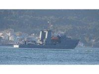 Rumen mayın arama gemisi Çanakkale Boğazı'ndan geçti