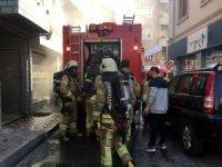 Kağıthane'de spor salonunda yangın paniği