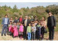 Kuşadası'nda Adalet Ormanı için fidan dikimi yapıldı