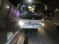 Haliç Köprüsü'nde zincirleme kaza: 3 otobüs birbirine girdi
