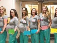 9 hemşire aynı anda hamile