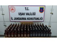 Uşak polisinden sosyal medya üzerinden sahte içki satanlara operasyon