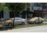 Adana'da otomobillere dolu önlemi