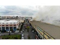 Başakşehir'de sanayi sitesindeki 2 iş yeri yandı