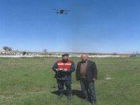 Kaybolan büyükbaş hayvanlar drone ile bulundu
