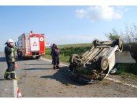 Çocuk sürücünün kullandığı otomobil takla attı: 1 ölü, 1 yaralı