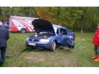 Düzce'deki kazada yaralanan sürücü hastanede hayatını kaybetti
