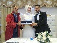 Başkan Kibar ilk nikahını kıydı