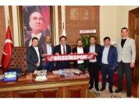 Bilecikspor yönetiminden Başkan Şahin'e ziyaret