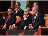 Cumhurbaşkanı Recep Tayyip Erdoğan, HDP Eş Genel Başkanı konuşurken meclisten ayrıldı.