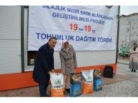 Üreticilere 19 ton silajlık mısır tohumu dağıtıldı