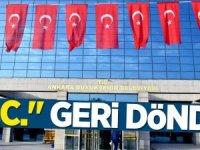 Artık T.C Ankara Büyükşehir Belediyesi