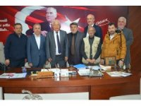 Gazeteciler başkan Posyık ile bir araya geldi