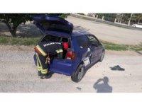 İki otomobilin çarpıştığı kazada 1 kişi yaralandı