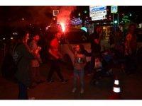 Galatasaray şampiyon oldu, İnegöllüler sokağa döküldü