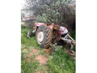 Takla atan traktörün altında kalan sürücü öldü