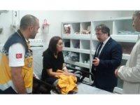 İl Sağlık Müdürü Ali Ramazan Benli kazada yaralanan 112 personelini ziyaret etti