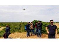 Didim'de helikopter destekli mülteci operasyonu