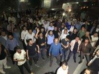 UBER sürücüleri darp edilen meslektaşları için eylem yaptı