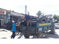 Beyşehir Belediyesi atık lastikleri topluyor