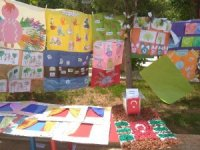 Sason'da miniklerin yıl sonu sergisine yoğun ilgi