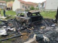 Bozüyük'te araç yangını