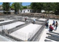 Eyüpnebi'de cami ve külliye inşaatı sürüyor