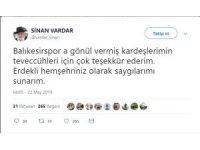 Sinan Vardar'dan taraftara yanıt